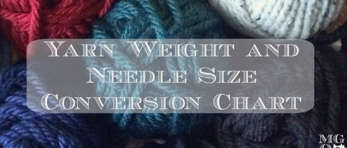 yarn weight and needle size conversion chart